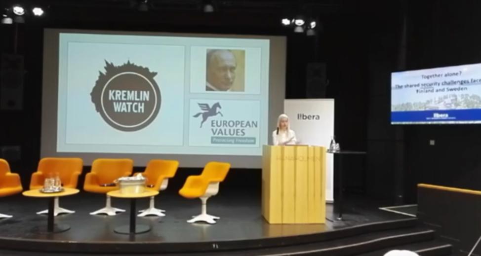 Veronika Víchován puhe Kremlin Watch-ohjelmasta (englanniksi)